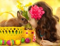 Декоративный кролик и дети
