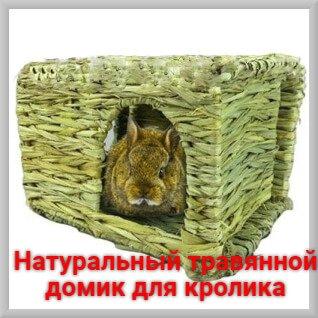 Натуральный тровянной домик для кролика