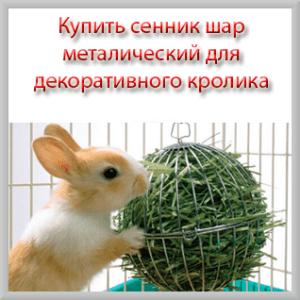 Купить сенник шар для декоративного кролика